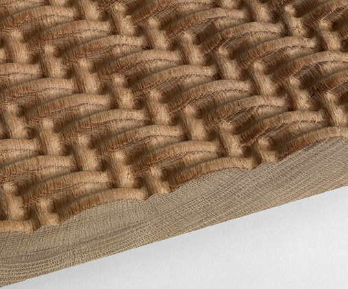 Woven Wood, a collaboration between product designer Gary Allson and textile designer Ismini Samanid
